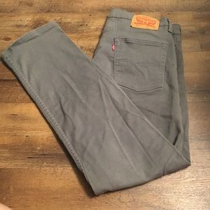 513 Levi's Slim Straight Stretch Grey Jeans 34x30